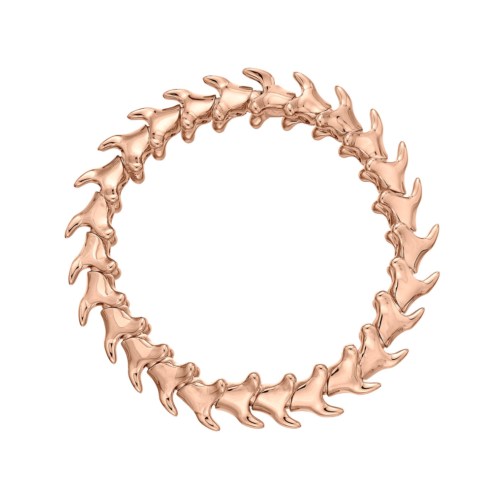 Rose Gold Vermeil Serpents Trace Wide Bracelet
