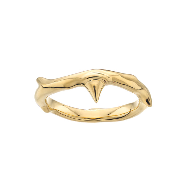 Yellow Gold Vermeil Rose Thorn Band Ring