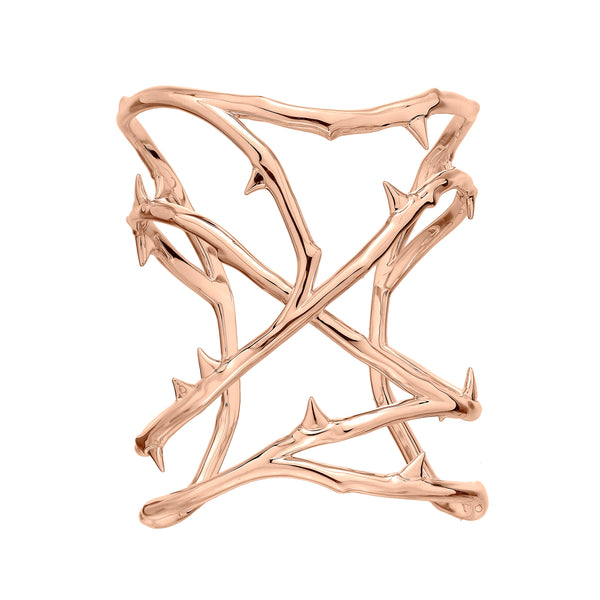 Rose Gold Vermeil Rose Thorn Cuff