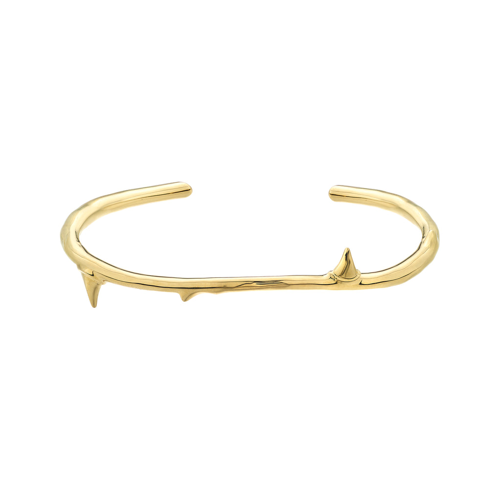 Yellow Gold Vermeil Rose Thorn Bangle