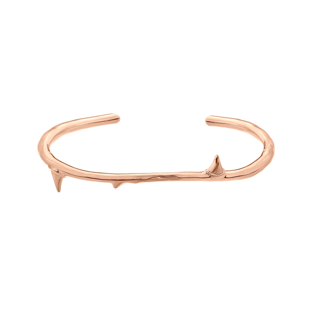 Rose Gold Vermeil Rose Thorn Bangle