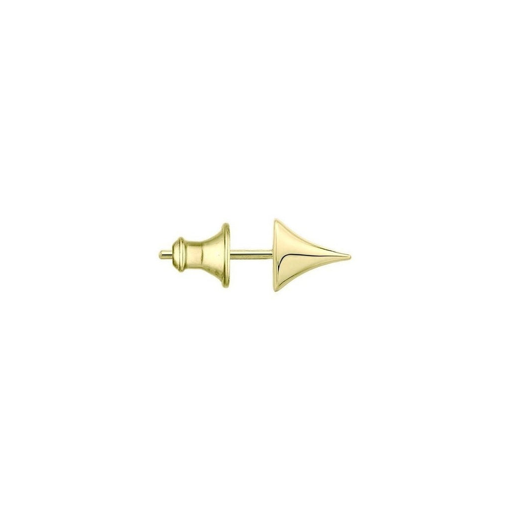 Single Yellow Gold Vermeil Rose Thorn Large Stud Earring