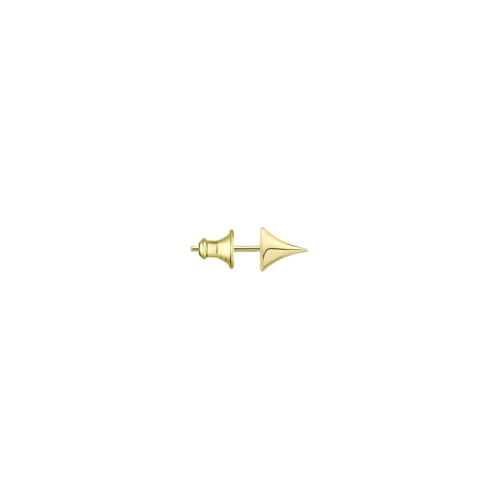 Single Yellow Gold Vermeil Rose Thorn Stud Earring