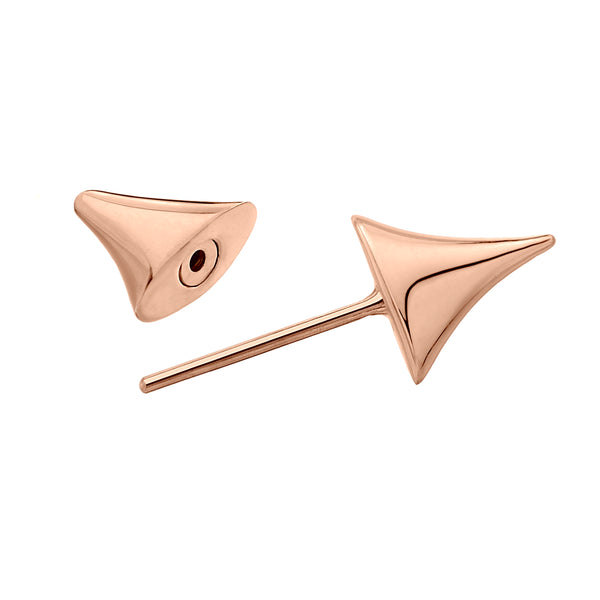 Single Rose Gold Vermeil Rose Thorn Bar Earring