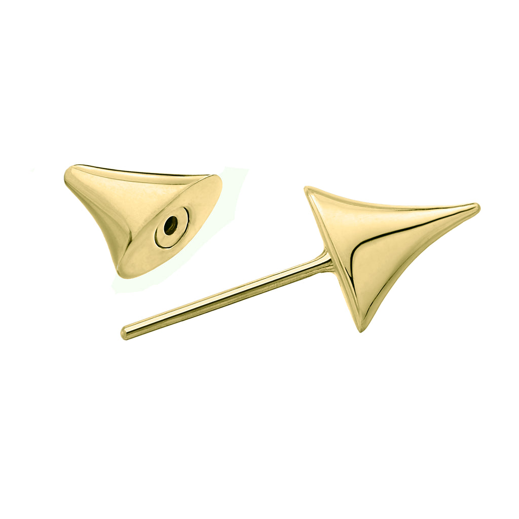 Single Yellow Gold Vermeil Rose Thorn Bar Earring