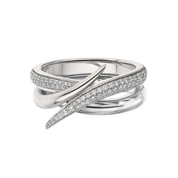 White Gold and White Diamond Interlocking Duo