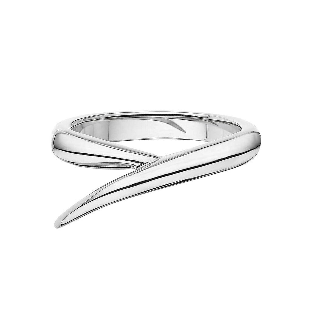 18ct White Gold Single Interlocking Ring