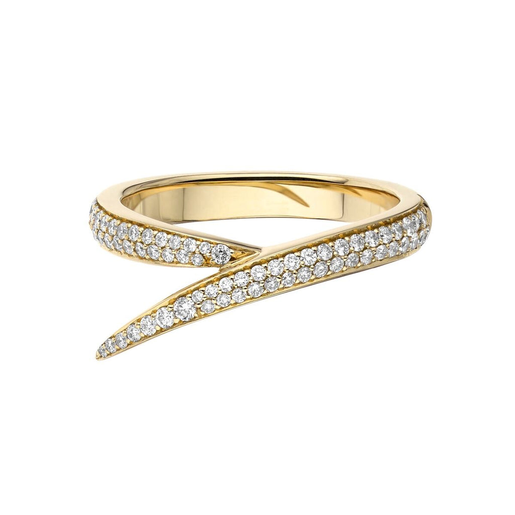 Yellow Gold & Diamond Single Interlocking Ring