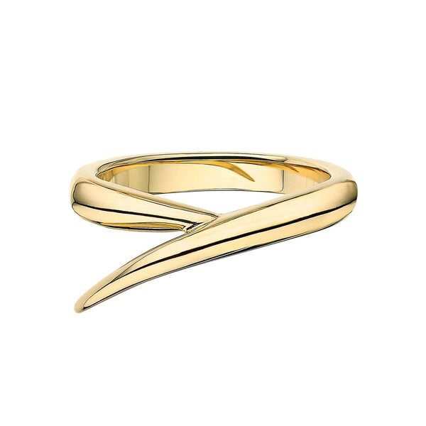 18ct Yellow Gold Single Interlocking Ring