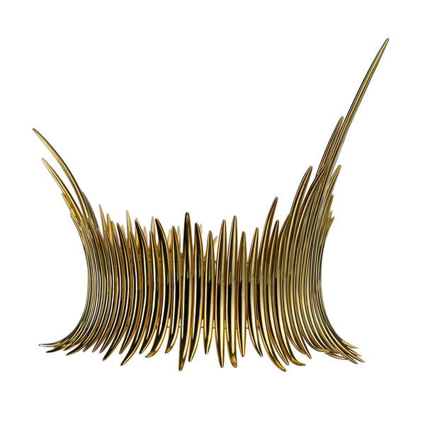 Yellow Gold Vermeil Statement Quill Choker