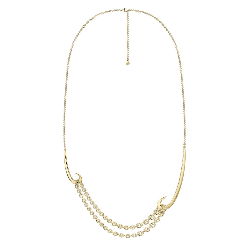 Yellow Gold Vermeil Multi Hook Pendant
