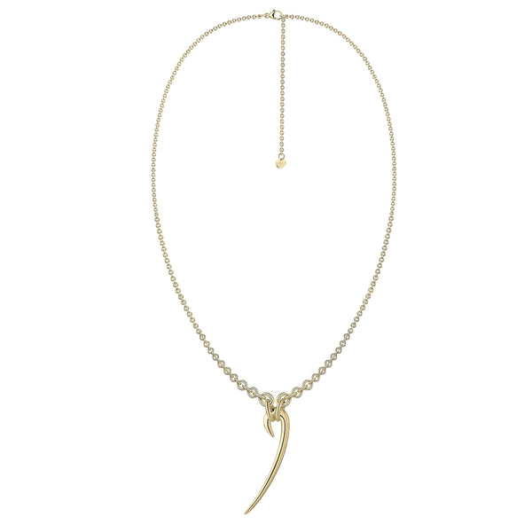 Yellow Gold Vermeil Drop Hook Necklace