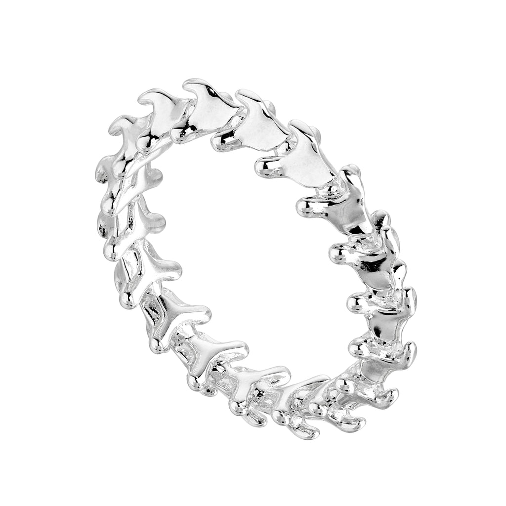 Serpent Trace Silver Band Ring