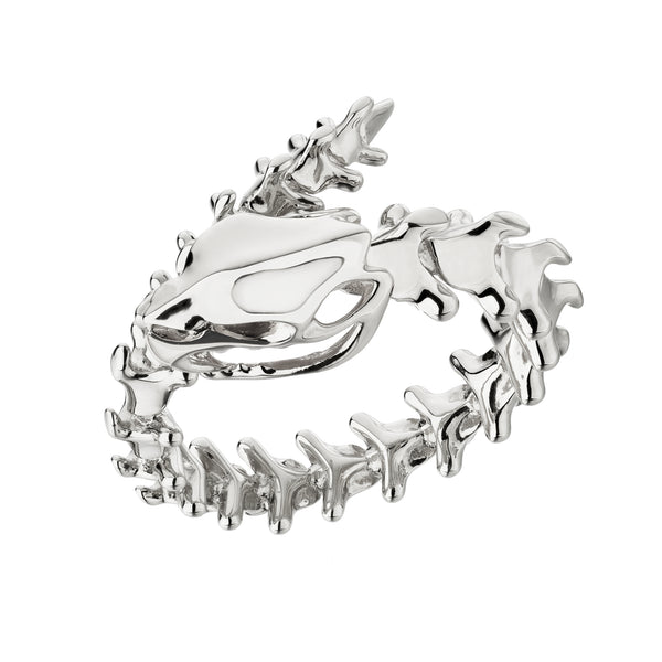 Serpent Trace Silver Wrap Ring
