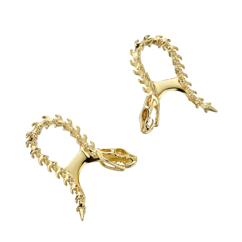 Serpent Trace Yellow Gold Vermeil Cufflinks