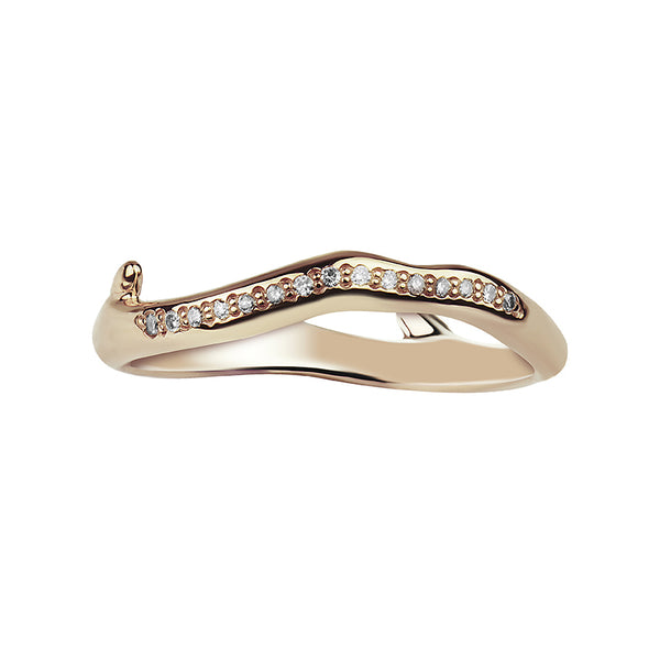 Yellow Gold Vermeil Cherry Blossom Diamond Branch Ring