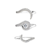 18CT WHITE GOLD 0.50CT DIAMOND ENTWINED ENGAGEMENT RING SET