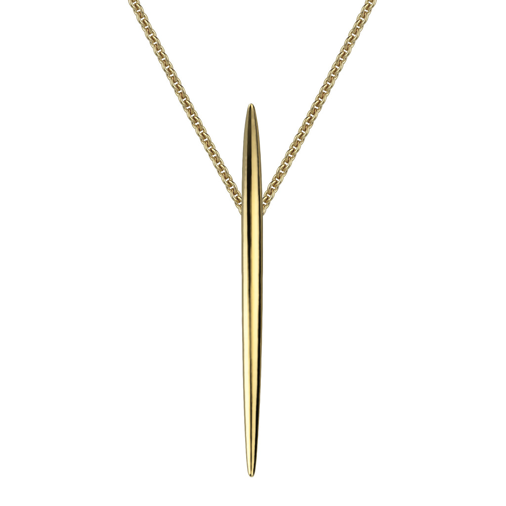 Yellow Gold Vermeil Quill Long Pendant