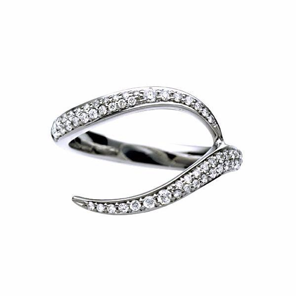 White Gold and Diamond Pavé Ariana Interlocking Wedding Band