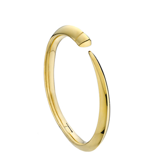 Yellow Gold Vermeil Tusk Bangle