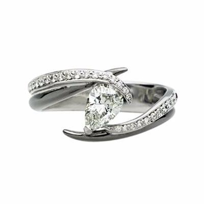 White Gold 0.65ct Captured Vine Engagement Ring