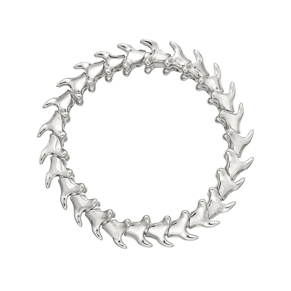 Silver Serpents Trace Wide Bracelet