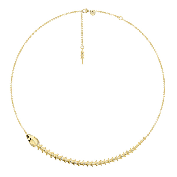 Serpent Trace Yellow Gold Vermeil Necklace