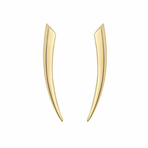 Yellow Gold Small Sabre Earrings