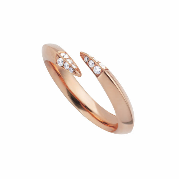 Rose Gold Vermeil Signature Diamond Wrap Ring