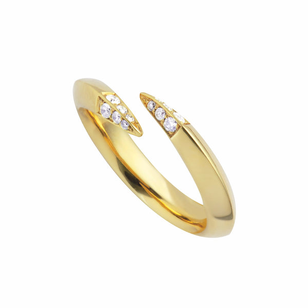 Gold Vermeil and Diamond Signature Wrap Ring