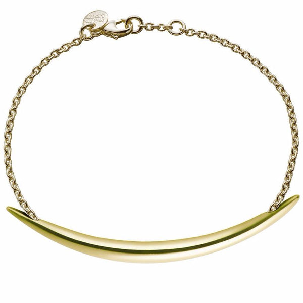 Silver and Gold Vermeil Quill Bracelet
