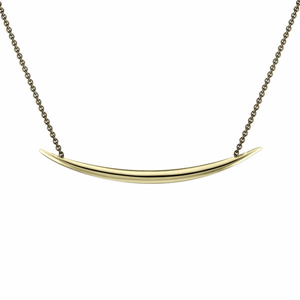 Silver and Gold Vermeil Quill Necklace
