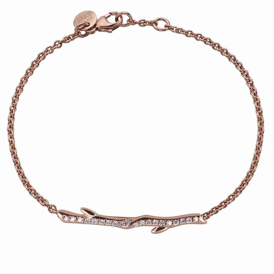 Rose Gold Vermeil and Diamond Cherry Branch Bracelet