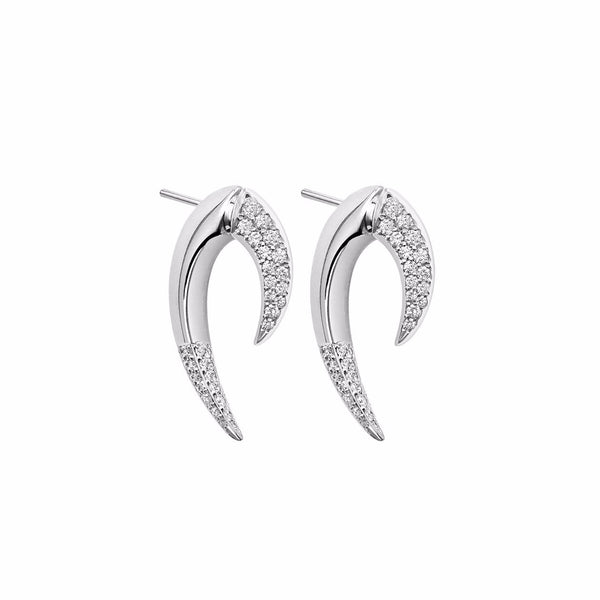 White Diamond Large Talon Earrings