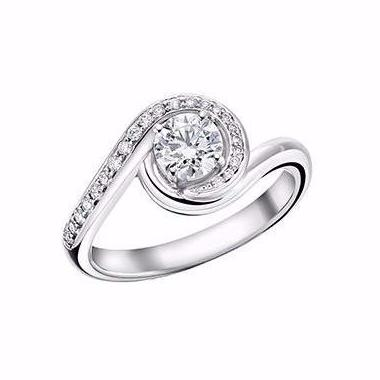 White Gold 0.50ct Captured Solitaire Engagement Ring