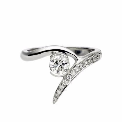 White Gold 0.35ct Outward Interlocking Engagement Ring