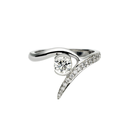 Platinum 0.35ct Outward Interlocking Engagement Ring