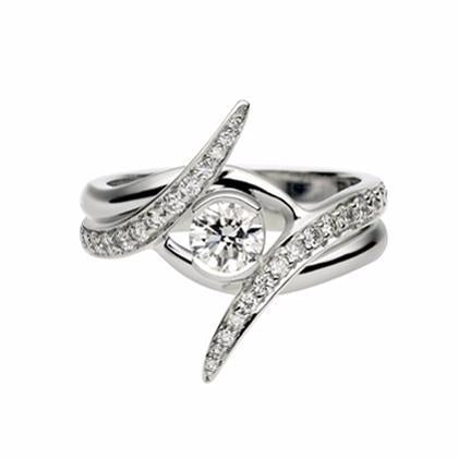 White Gold 0.35ct Outward Interlocking Ring Set