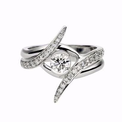 Platinum 0.35ct Outward Interlocking Engagement Set
