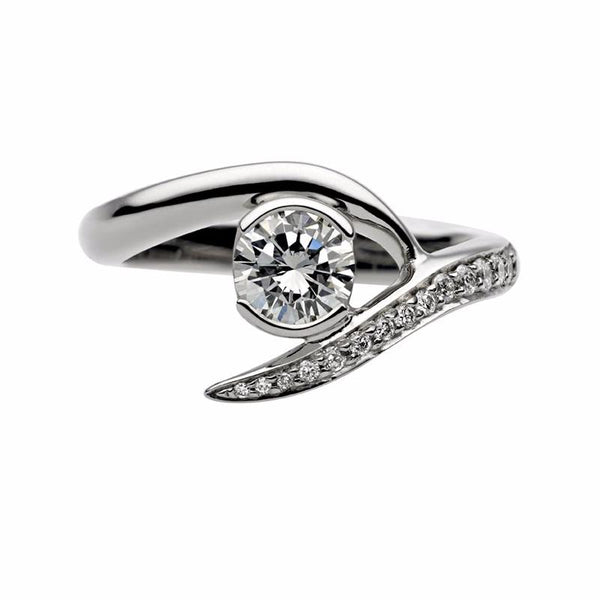 Platinum 0.50ct Solitaire Engagement Ring