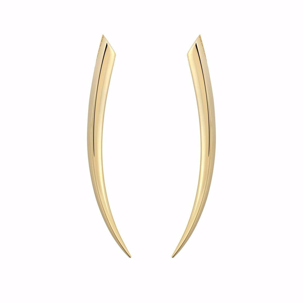 Yellow Gold Medium Sabre Earrings