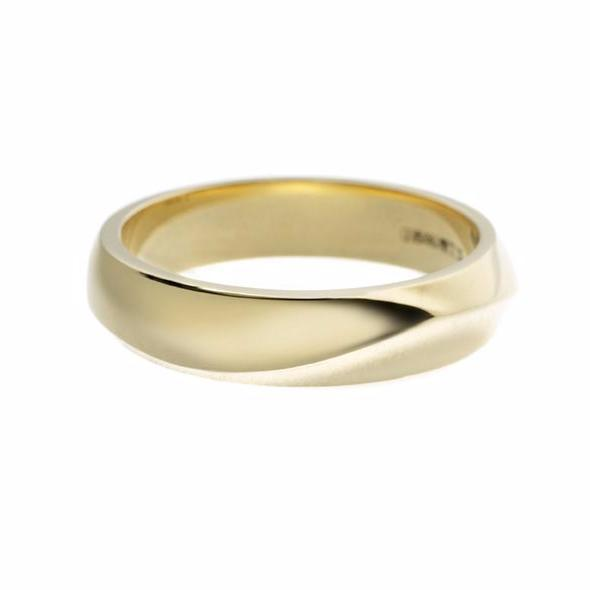 Yellow Gold Vine Men's Wedding Band
