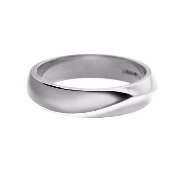 White Gold Vine Men's Wedding Band