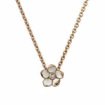 Rose Gold Vermeil Small Cherry Blossom Pendant