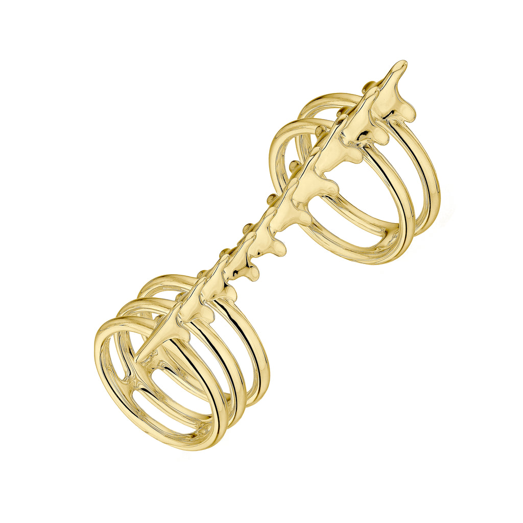 Serpent Trace Yellow Gold Vermeil Long Finger Ring