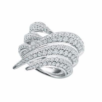 White Diamond Sabre Ring