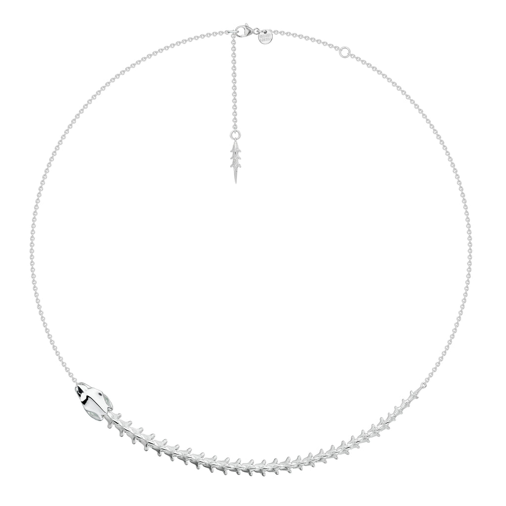 Serpent Trace Silver Necklace