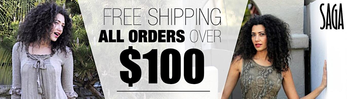 Free Shipping All Orders Over $100 - SAGA