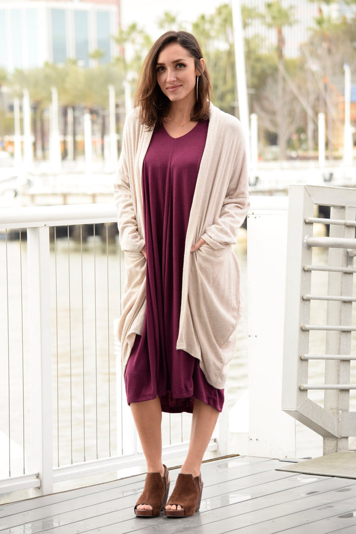 Soft Knit Cardigan - Saga Clothing