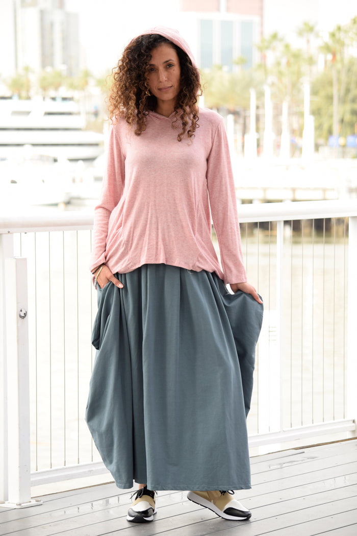Faux Pocket Maxi Skirt - Saga Clothing